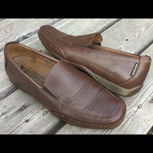 Men's MEPHISTO EDLEF Brown Leather Slip On Loafers